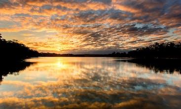 Sunset of Wallaga Lake